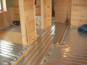 Теплые полы на деревянном доме