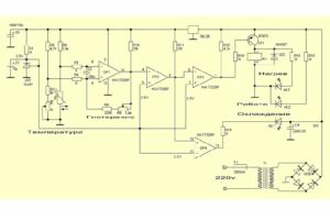 Схема работы терморегулятора на примере теплого пола. (Для увеличения нажмите)