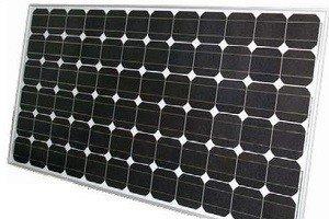 Солнечная батарея с монокристаллами