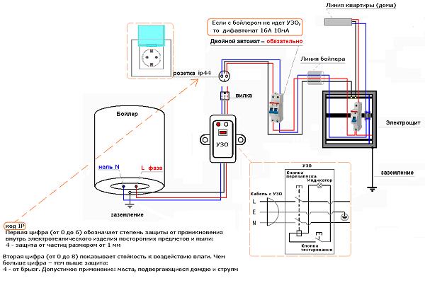 Водонагреватель thermex электрическая схема фото 962