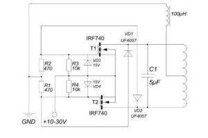 Электронная схема нагревателя. (Для увеличения нажмите)