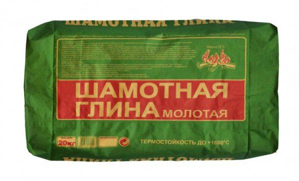 Упаковка шамотной глины