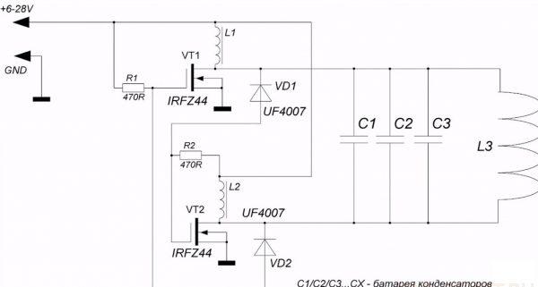 Схема сборки печи на транзисторах