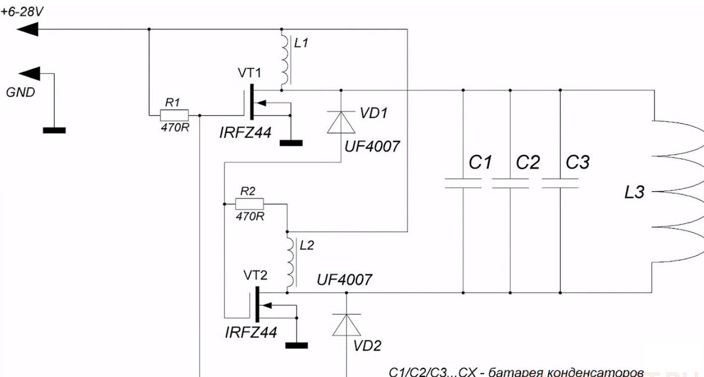 Схема индукционного котла отопления своими руками фото 751