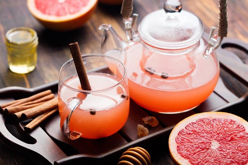 Оранжевый чай с грейпфрутом