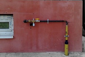 Кран для отключения газа