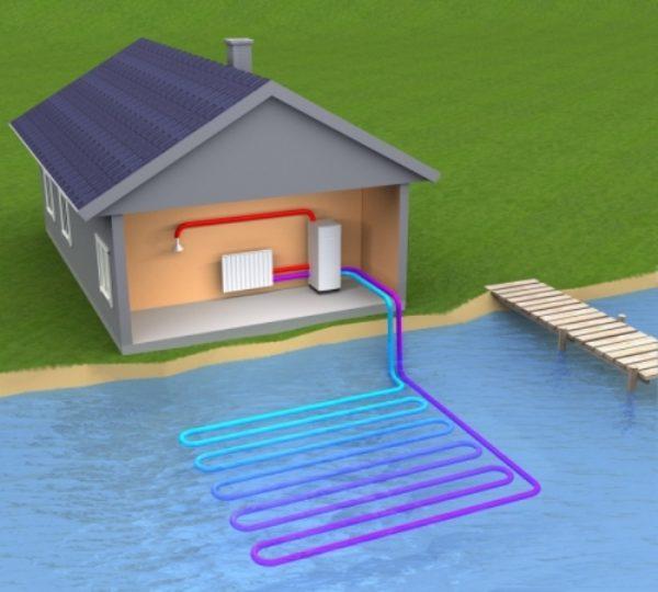 Тепловая система в водоёме