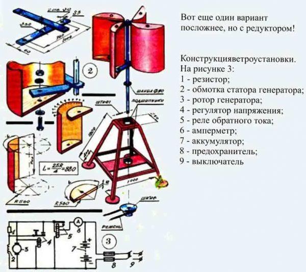 Ветрогенератор с редуктором
