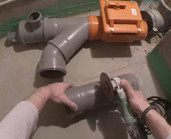 Монтаж обратного клапана
