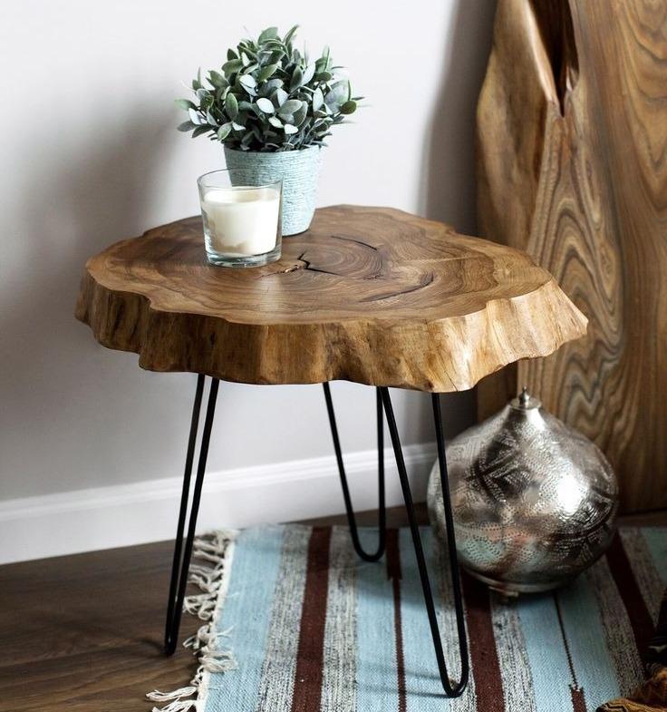 От лампы до часов: 6 вещей для дома, которые можно сделать из древесных спилов