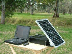 Портативная электростанция на солнечной батарее