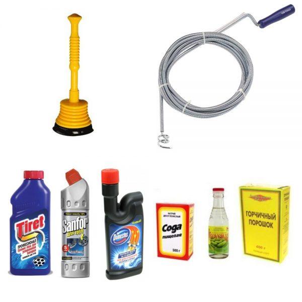 Приспособления, которые понадобятся для чистки унитаза