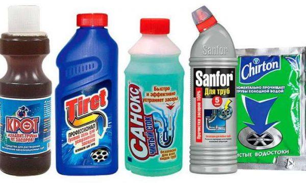 Самые популярные средства для прочистки труб
