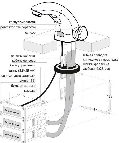 Описание устройства бесконтактного крана