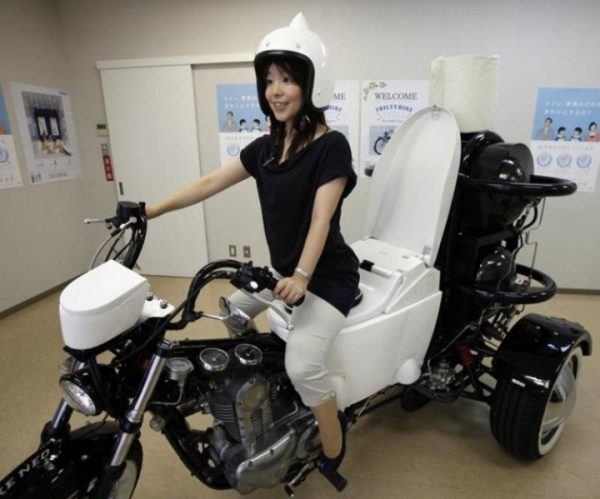 Мотоцикл-унитаз
