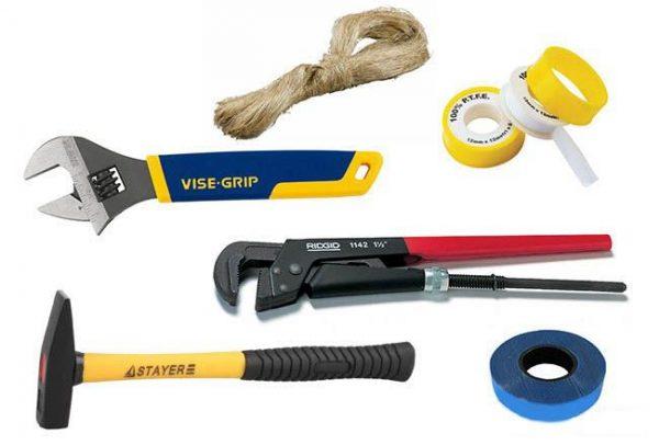 Инструменты для смены смесителя