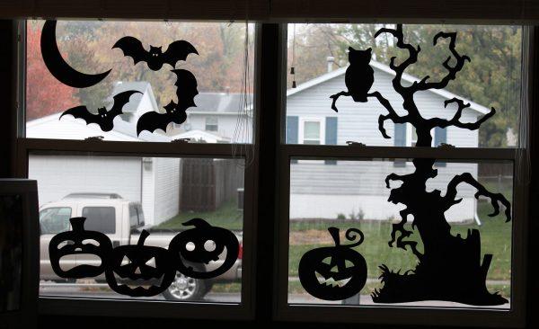 окно на хэллоуин