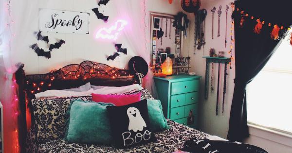 спальня на хэллоуин