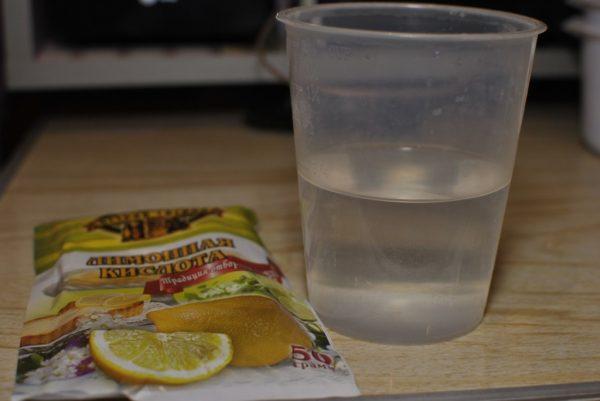 Чистка золота лимонной кислотой