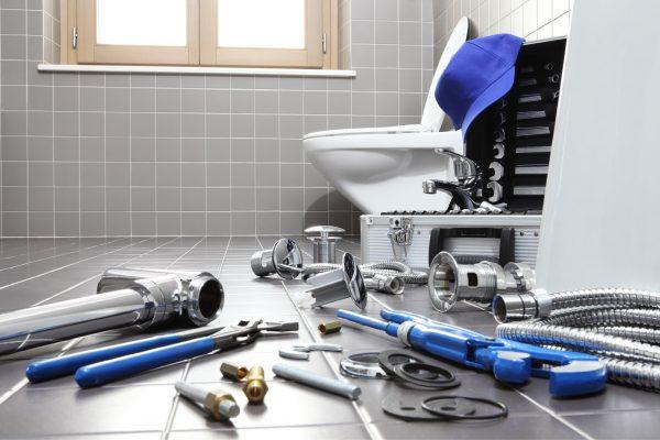 Инструменты, необходимые для установки унитаза