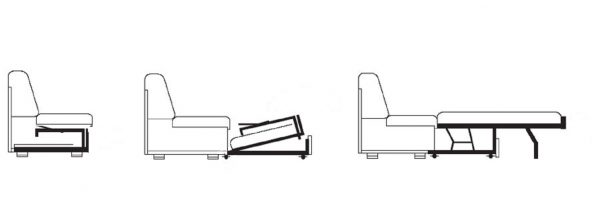 Раскладной выдвигающийся диван