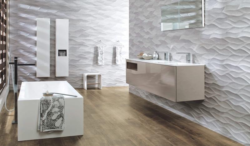 Рельефная плитка для ванной: 25 стильных вариантов