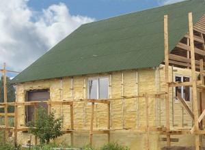Утепление деревянного дома снаружи ППУ